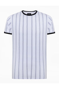 T-Shirts - Vertical Stripe T-Shirt Double White