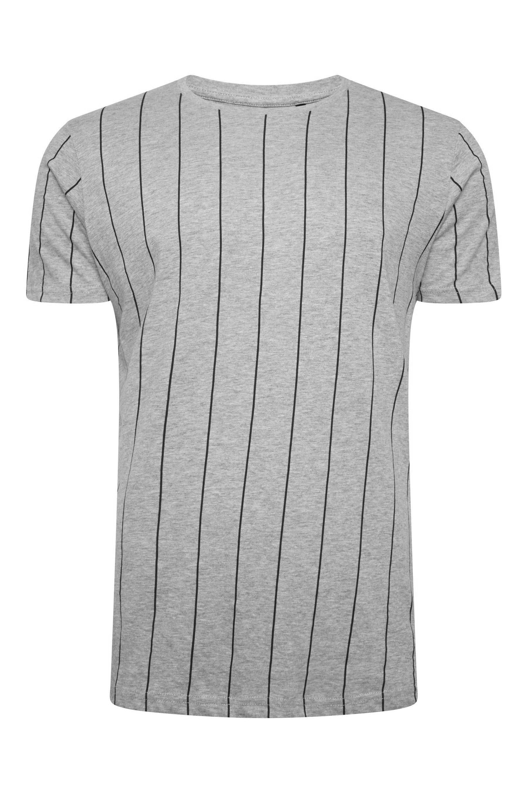 T-Shirts - Vertical Stripe T-Shirt Grey