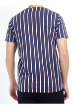 Load image into Gallery viewer, T-Shirts - Vertical Stripe T-Shirt Navy/ Red