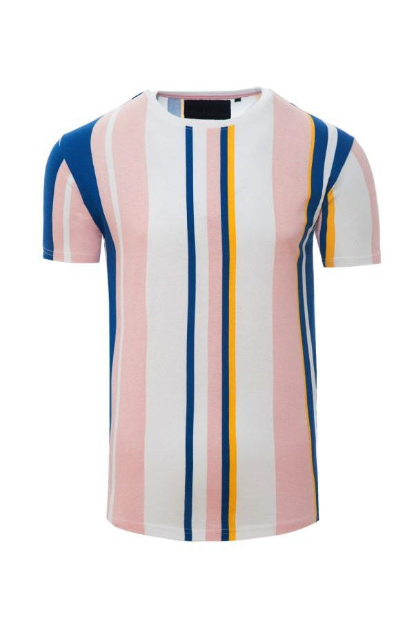 T-Shirts - Vertical Stripe T-Shirt Pink