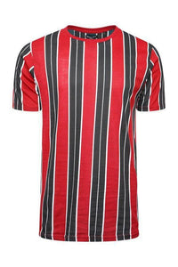 T-Shirts - Vertical Stripe T-Shirt Red