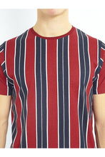 Load image into Gallery viewer, T-Shirts - Vertical Stripe T-Shirt Red