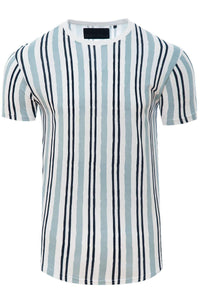 T-Shirts - Vertical Stripe T-Shirt Sky Blue