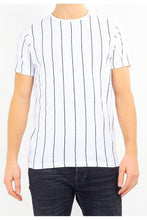 Load image into Gallery viewer, T-Shirts - Vertical Stripe T-Shirt White