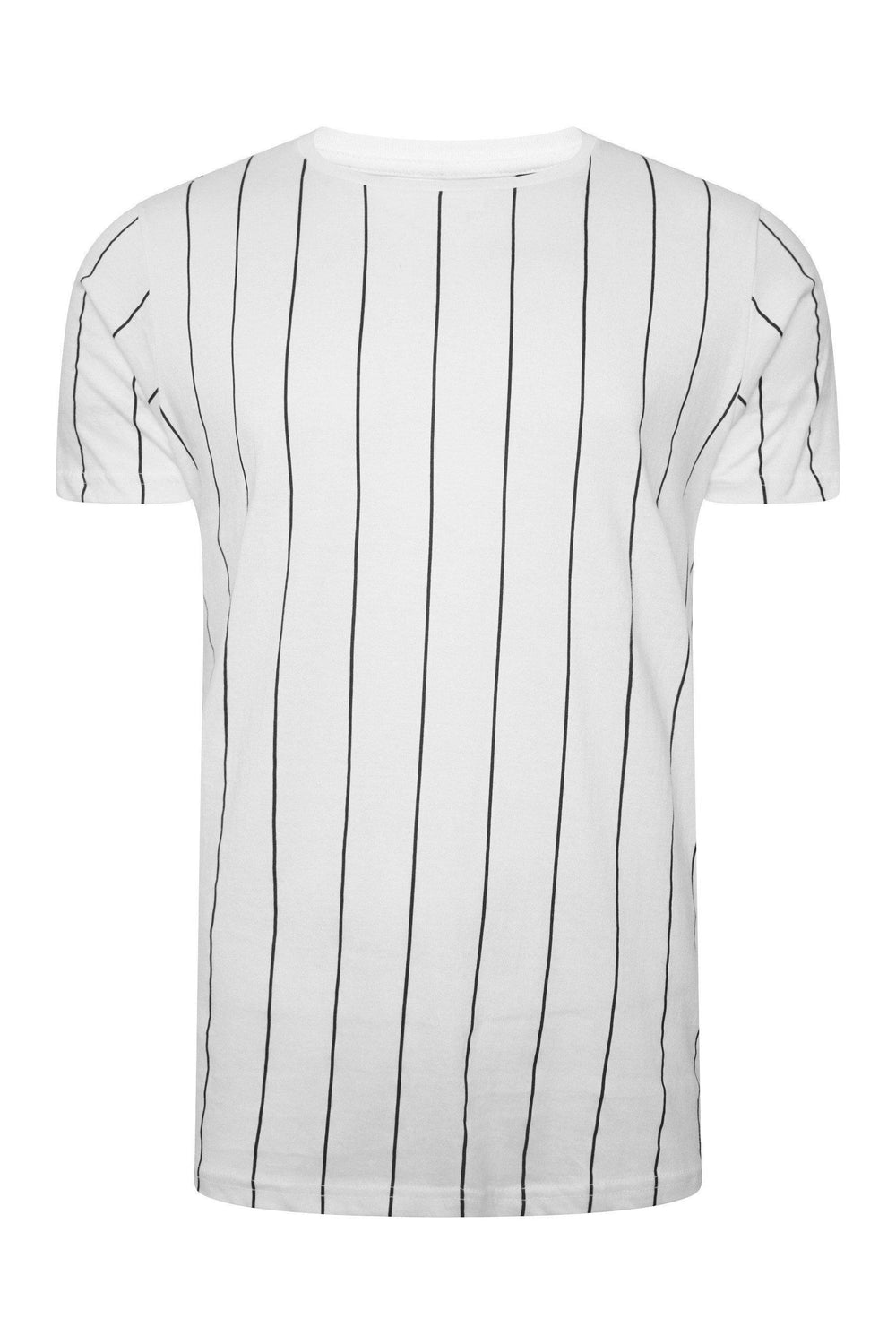 T-Shirts - Vertical Stripe T-Shirt White