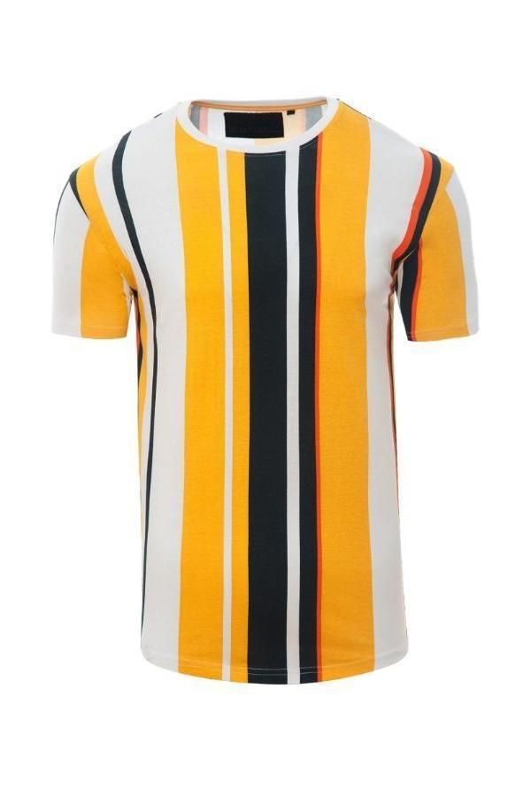 T-Shirts - Vertical Stripe T-Shirt Yellow