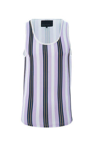 T-Shirts - Vertical Stripe Vest Lilac