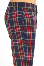 Load image into Gallery viewer, TROUSERS - Skinny Tartan Trousers Red