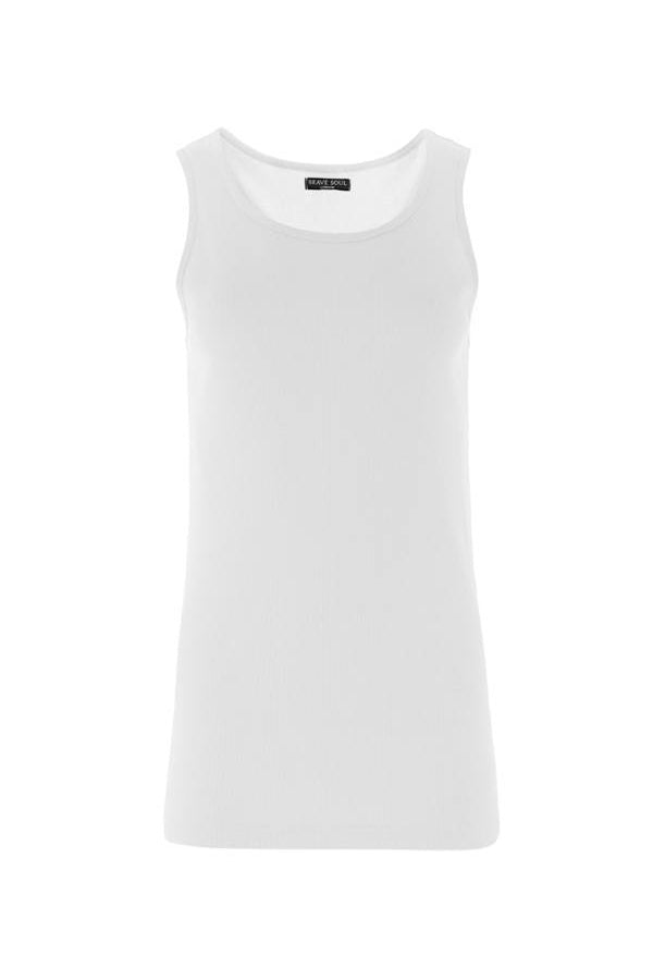 Vests - Basic Vest White