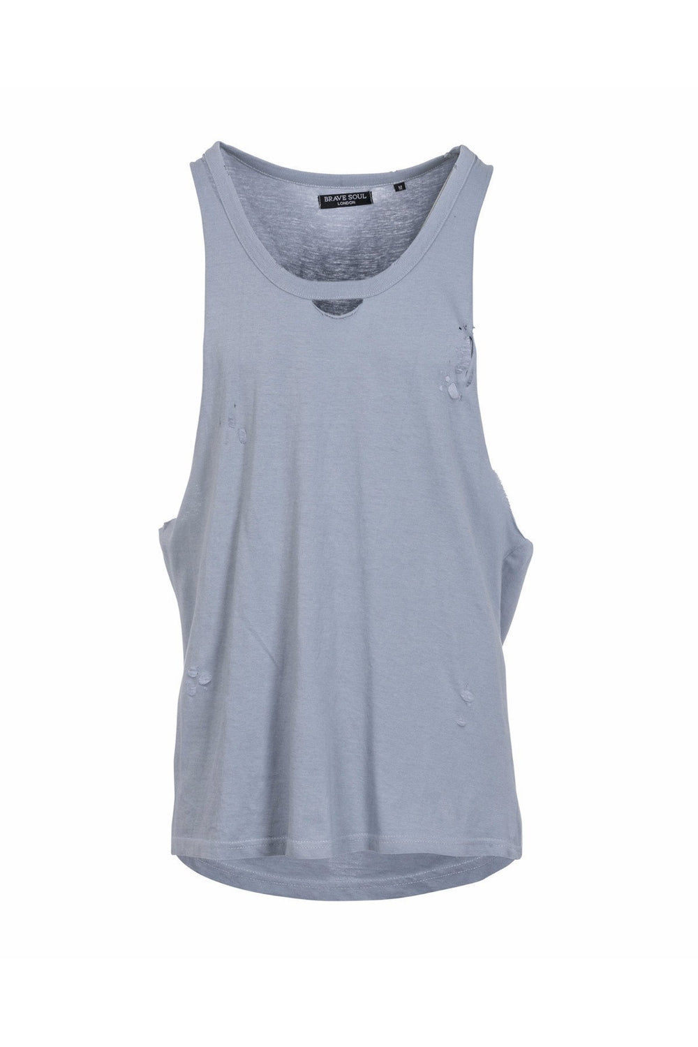 Vests - Destroyed Vest Dusty Blue