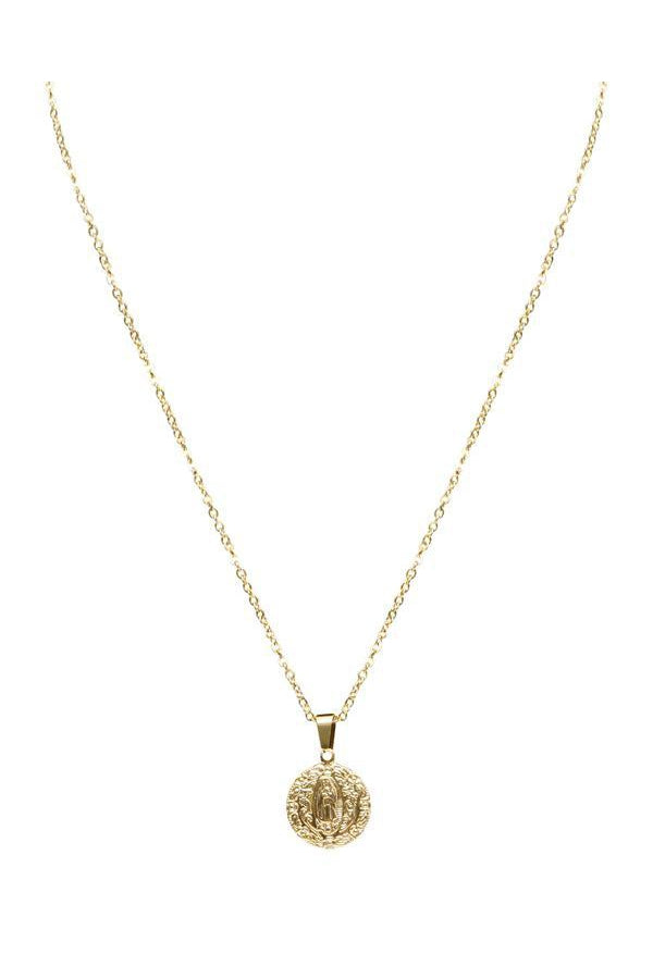 Watches - Lourdes Coin Gold Pendant