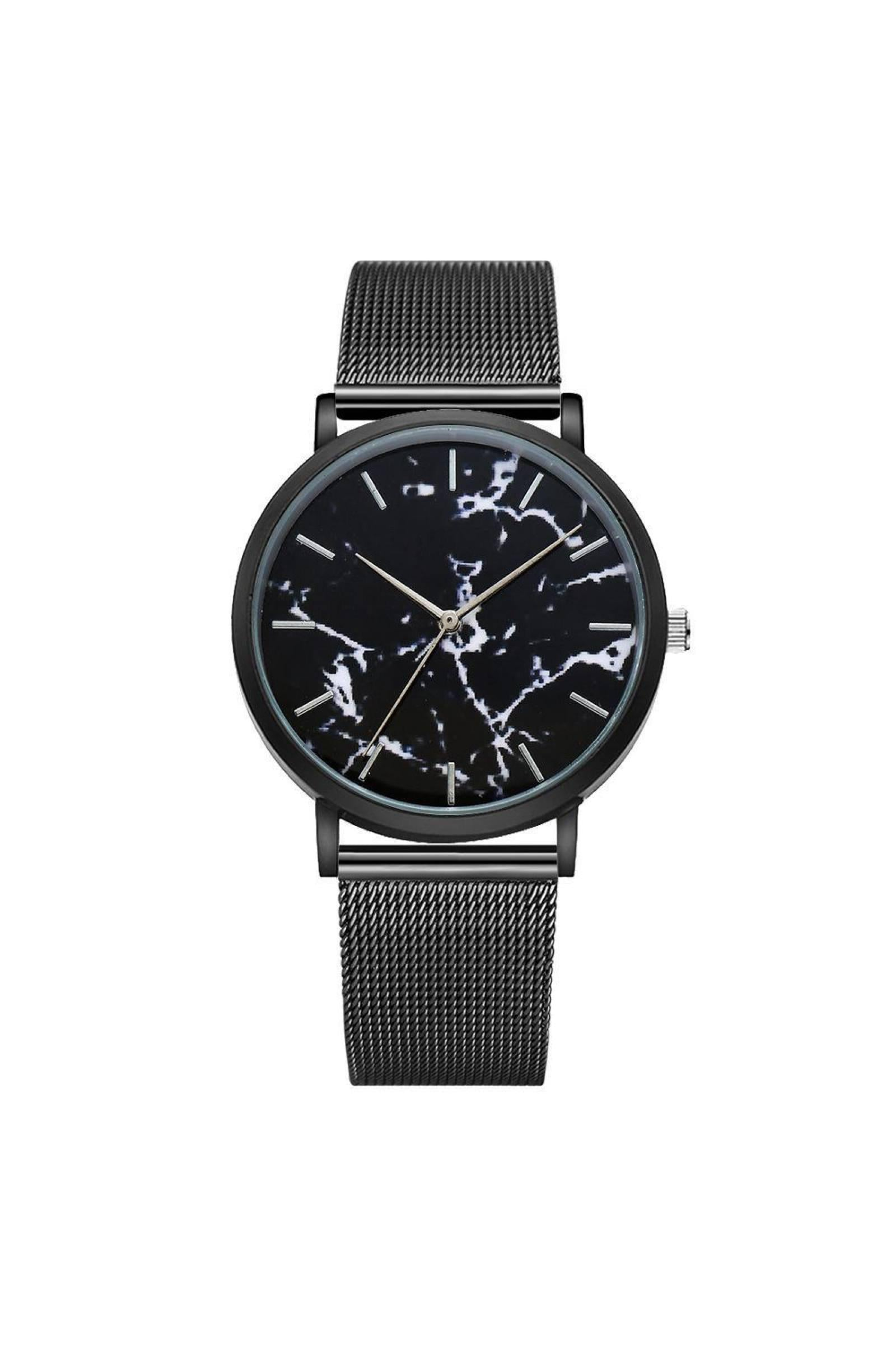 Watches - Marble Mesh Watch Black