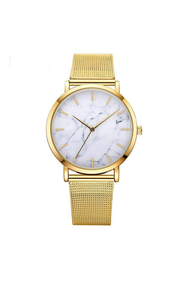Watches - Marble Mesh Watch Gold