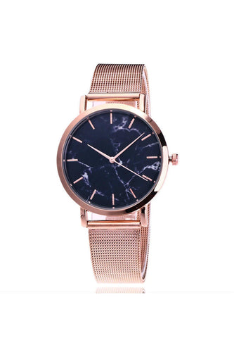 Watches - Marble Mesh Watch Rose Gold