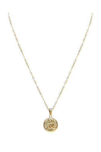 Watches - Pray Coin Gold Pendant