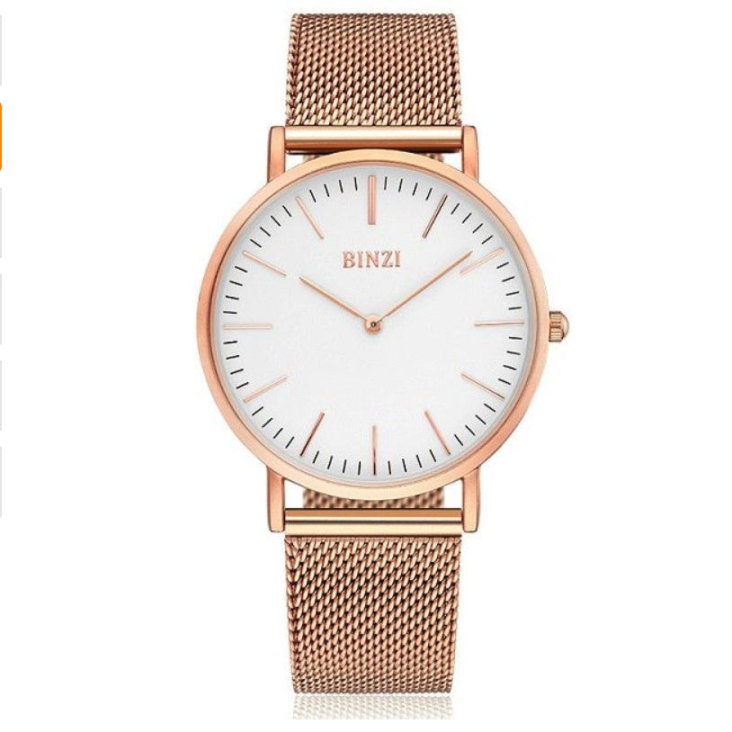 Watches - Rose Gold Mesh Watch