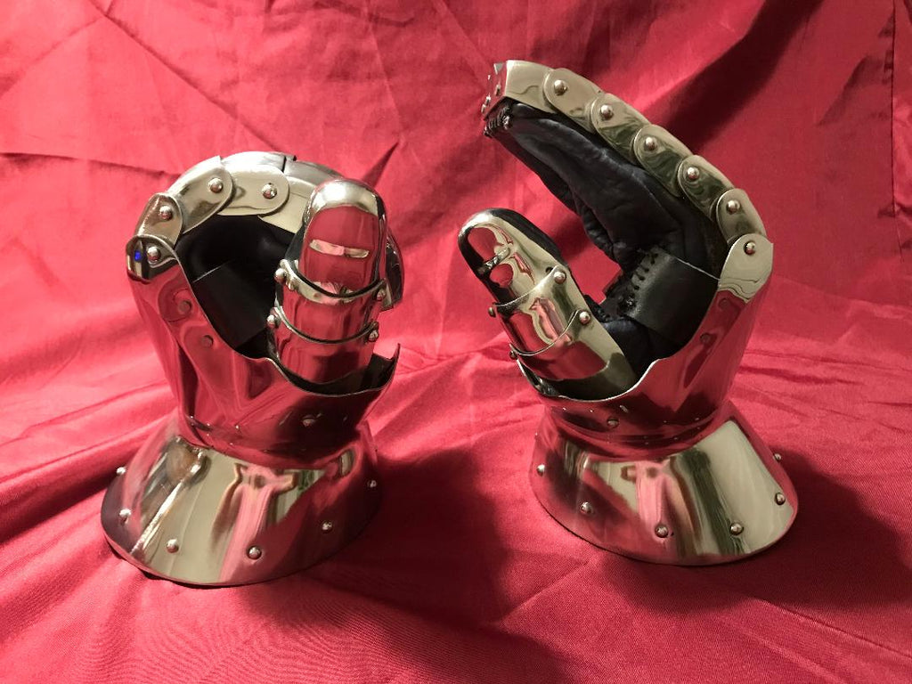 Corrugated Stainless Gauntlets