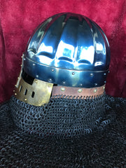Helmet - Fluted Crusader Kingdom / Mild with Aventail / 14ga