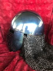 Helmet - Crusader Kingdom / Mild with Aventail / 14ga