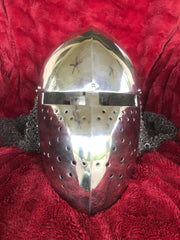 Helmet - Crusader Kingdom / Stainless 14 ga / with Aventail