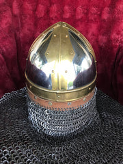 Helmet - Mongol Hussar / Stainless / 14ga / with Aventail