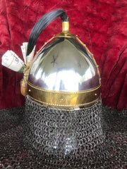 Helmet - Viking Rus / Stainless / 14 ga / with Aventail