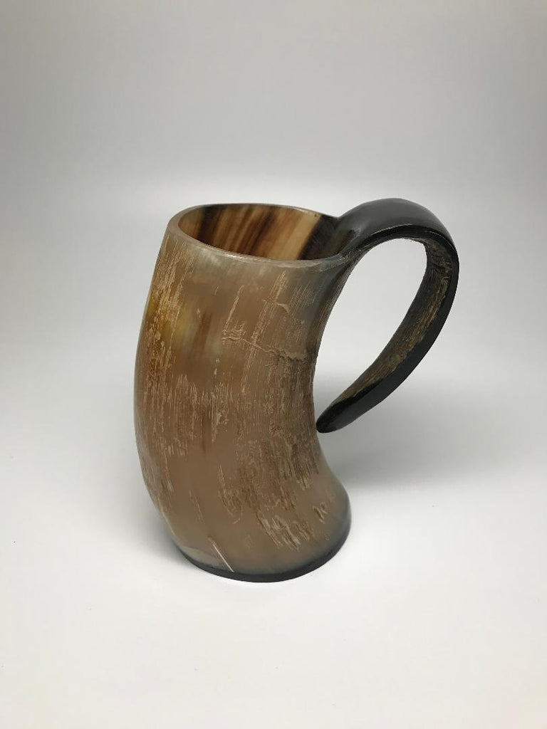 Horn mug for HOT or cold liquids