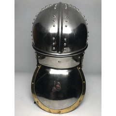 Helmet - Roman Type One/ Stainless/ 14ga