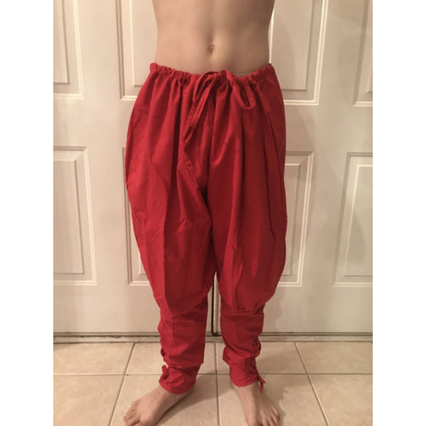 Linen Viking Fighting Pants w/ Lace up Calf