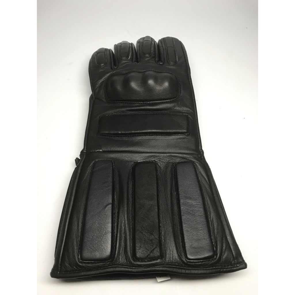 Padded Leather Sparring Gloves w/ Knuckle Protection