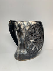 Highly Carved Horn Mug