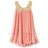 Sequin Collar Chiffon Dress