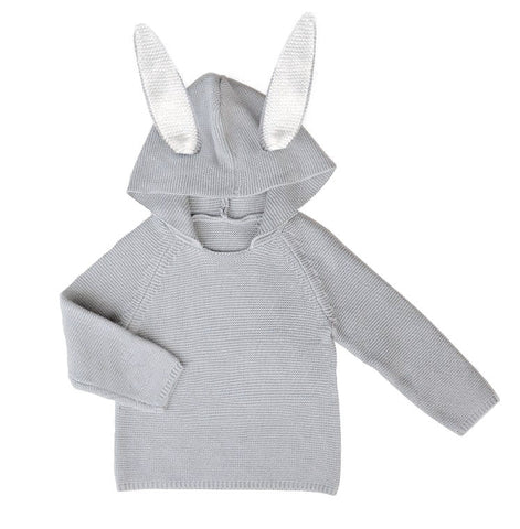 Knit Bunny Hoodie