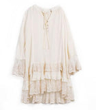 Creamy Layered Boho Dress