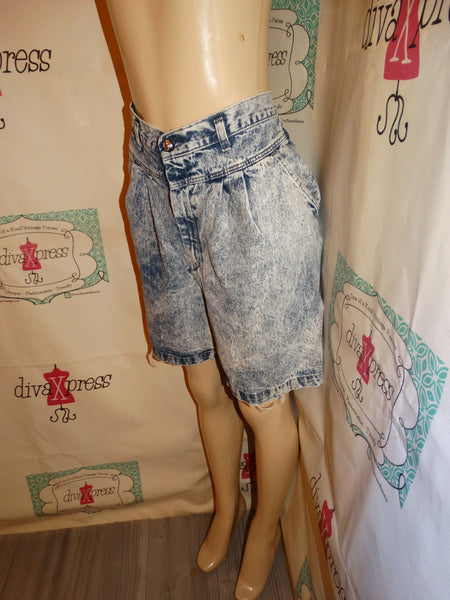 Vintage Lord Issacs Acid Wash JEan Shorts Size XL