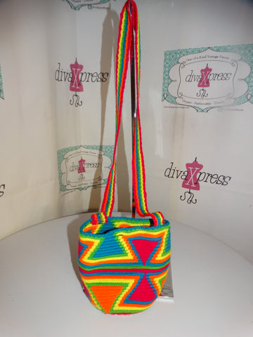 Vintage NEoN Colorful Small Crossbody Size S