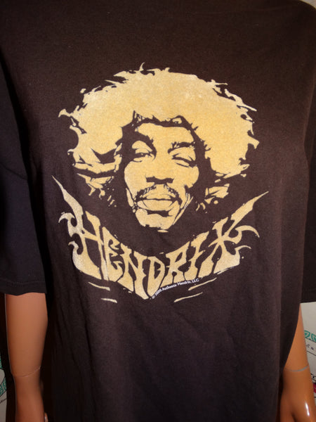 Vintage Jimmy Hendrix Brown T Shirt Size 3x