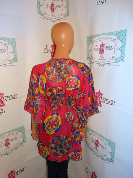 Vintage Pink Sheer Cover Up Size 1x