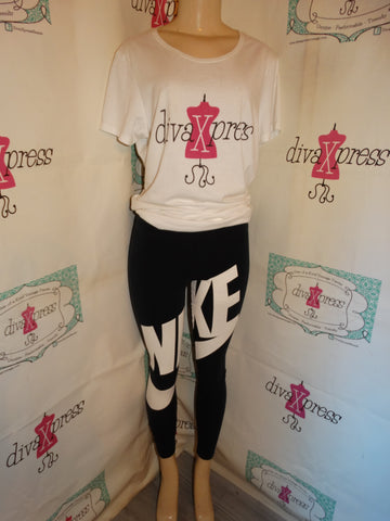 Vintage Nike Black/White Tights Size S