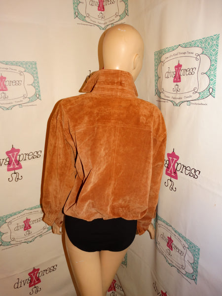 Vintage Lew Magram Brown Suede Body Suit Size XL