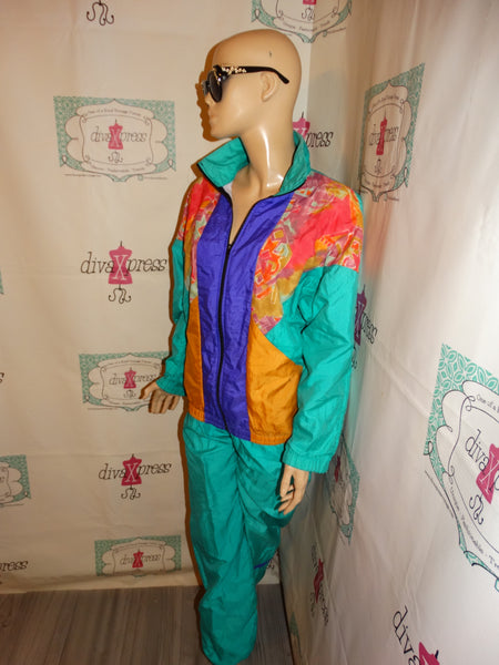Vintage Jump USA green colorful Track Suit Size M