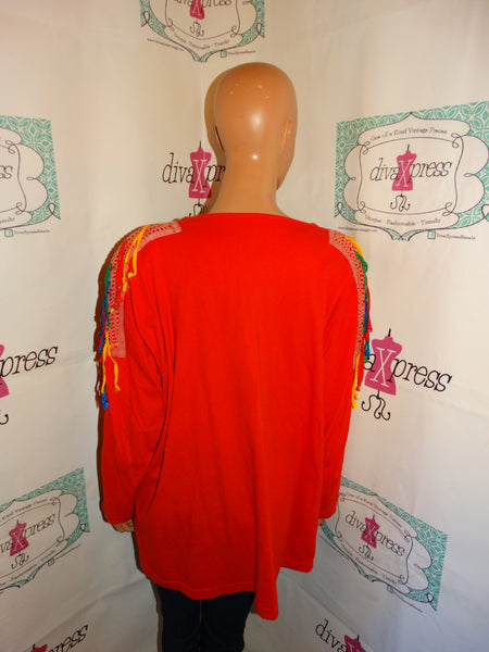 Vintage Red Shingle Top Size 1x