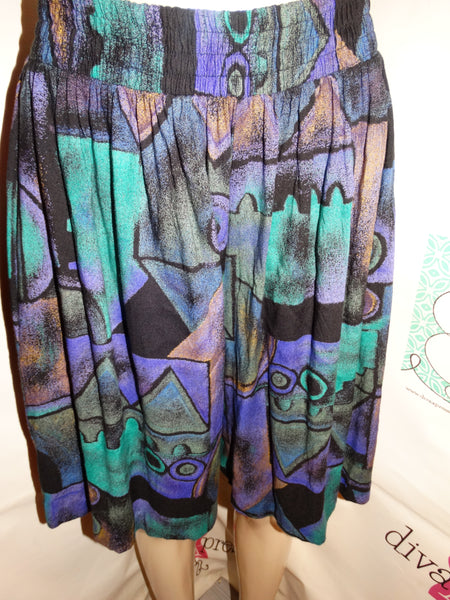Vintage Petites Purple/Green Shorts Size XL