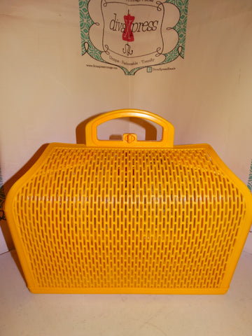 Vintage Yellow Box Speedy Style  PUrse SIze XL