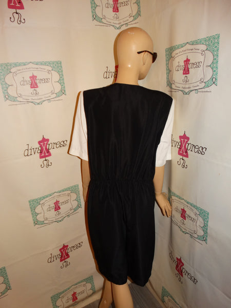 Vintage Postive Influence Black Romper Size XL