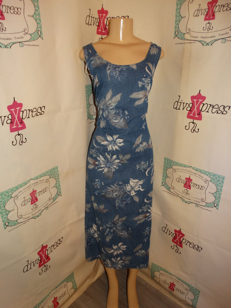 Vintage Robbie Bee Blue Jean Dress Size M