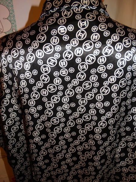 Vintage Jennifer Lauren Black/White CC blouse Size 1x