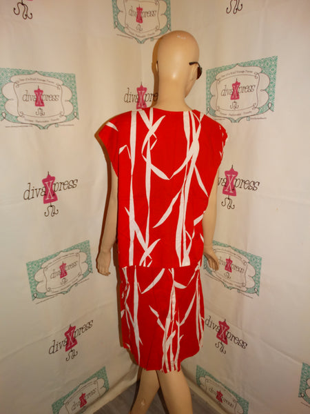 Vintage Red/White 2 Piece Skirt Size M