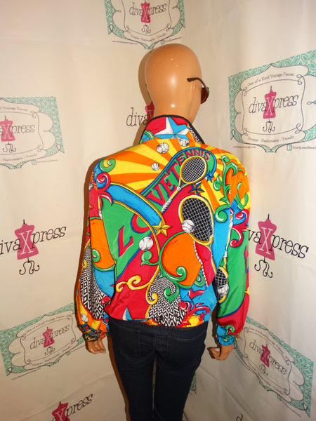 Vintage Tail Colorful Bomber Size S