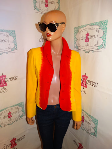Vintage Moschino Yellow/Red Blazer Size S